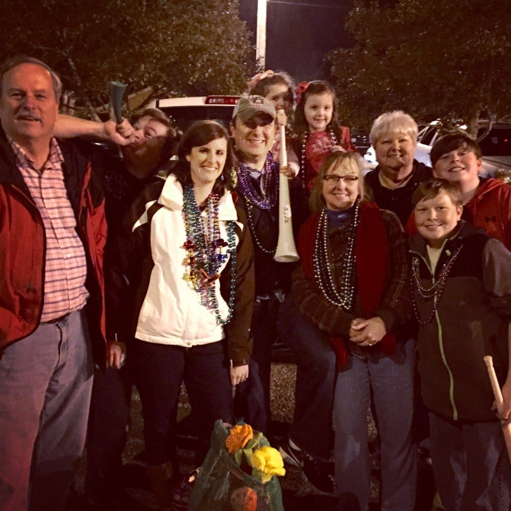Attending Mardi Gras in Mobile, Alabama with family is a lot of fun!