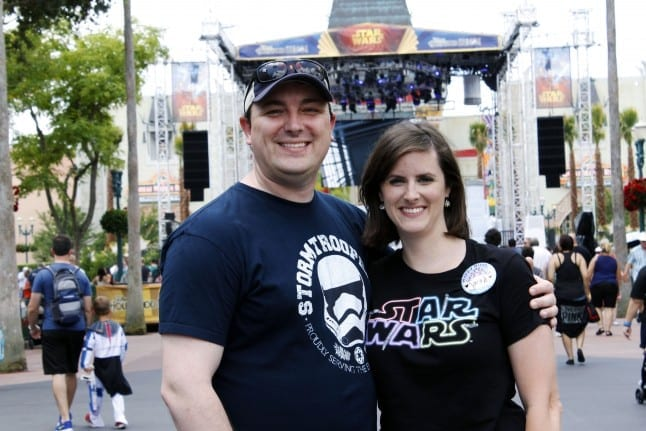 My husband and I during the 2015 Star Wars Weekends at Walt Disney World.