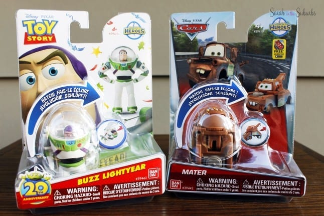 Buzz Lightyear and Mater Hatch 'n Heroes