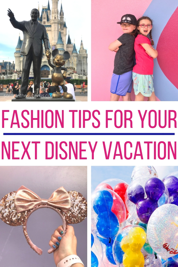 Love being fashionable, but comfortable? You can have it all on a Disney vacation! Find out how I keep it trendy and stylish while being comfortable and practical. These easy tips will have you looking great in no time! #disneyvacation #disneytravel #fashiontips #disneyparks #packingtips #disneypackingtips #disneytravel #familytravel #dsmmc
