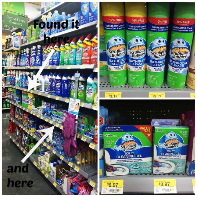 Walmart Has Scrubbing Bubbles Products