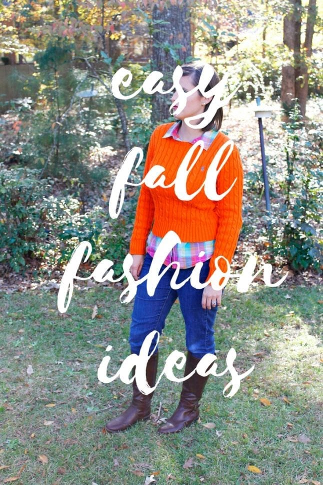 Fall fashion doesn't have to break the bank. Try my easy fall fashion ideas and get your wardrobe together in a flash!