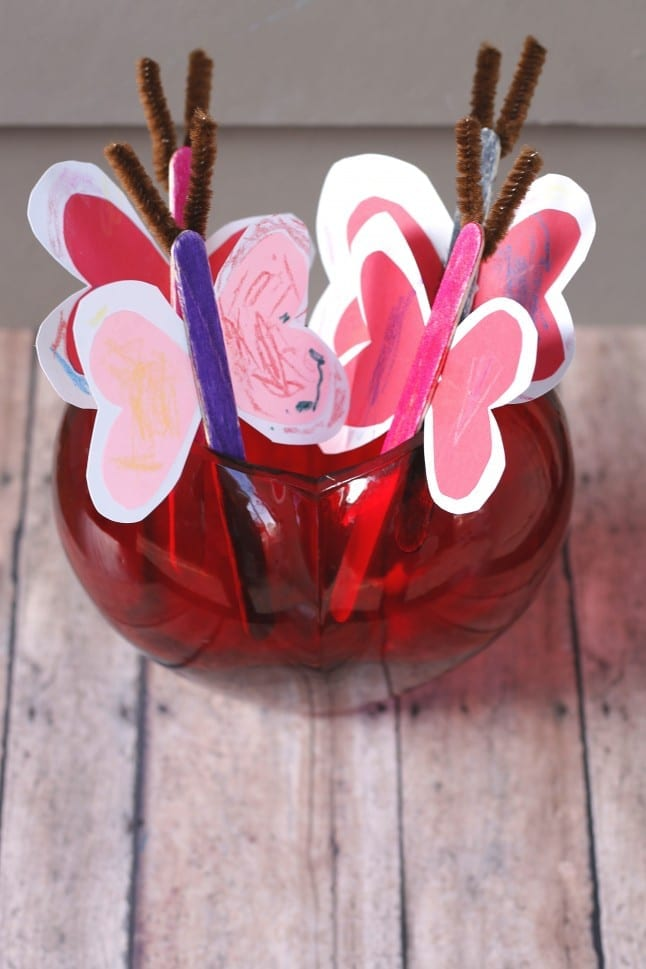 Love Bug Craft in Vase