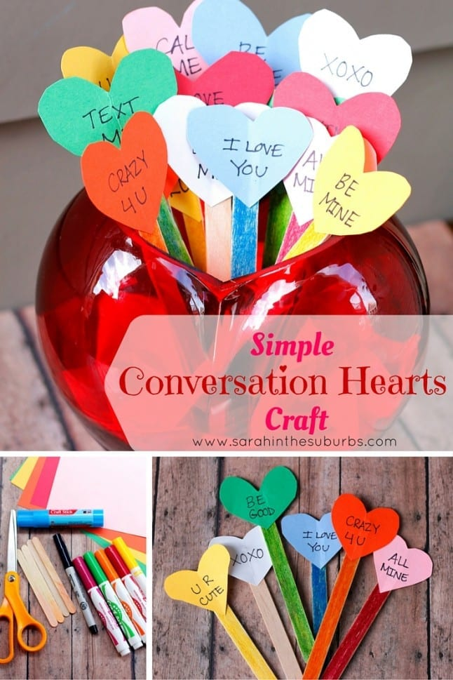 Simple Conversation Hearts Craft