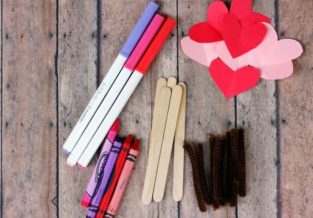 Supplies for Love Bug Craft