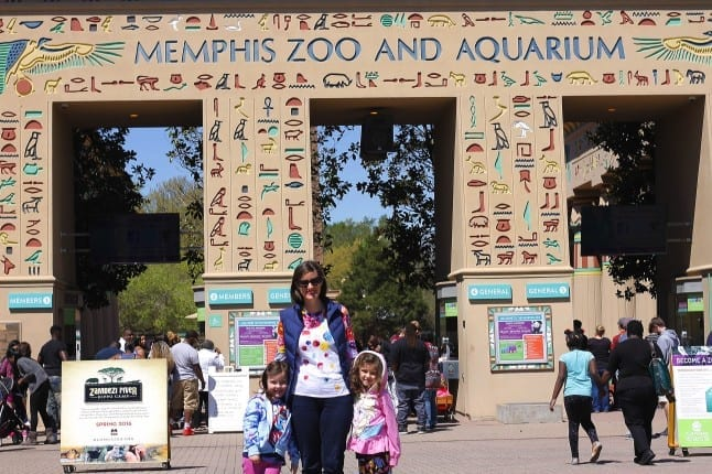 Sarah and Kids at Memphis Zoo
