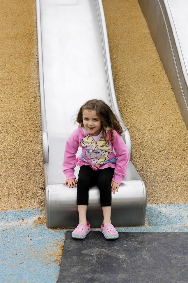 Sliding at Shelby Farms Park