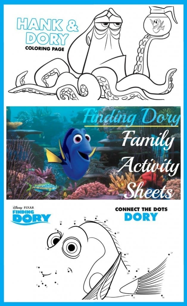 Finding Dory Family Activity Sheets