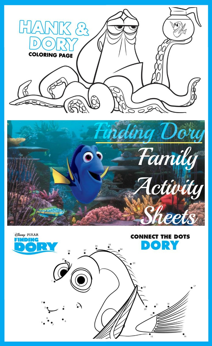 Finding Dory Coloring Sheets and Activities - Sarah in the Suburbs