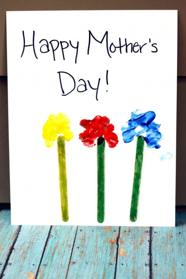 Mother's Day Thumbprint Flowers