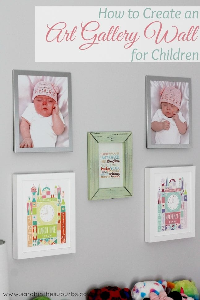 How to Create an Art Gallery Wall for Children