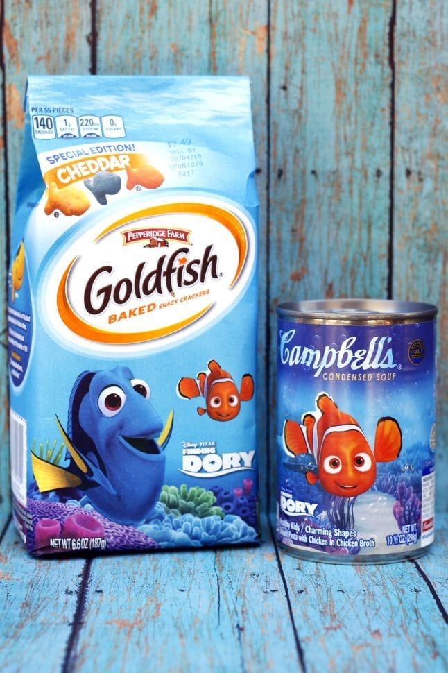 Finding Dory Products from Pepperidge Farms and Campbells
