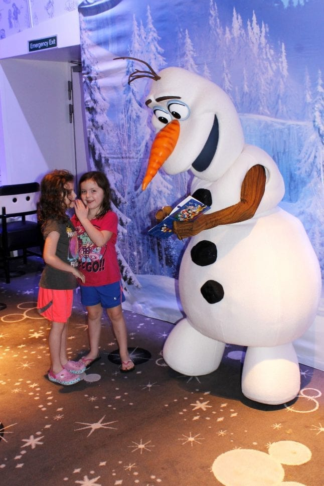Meeting Olaf for the First Time