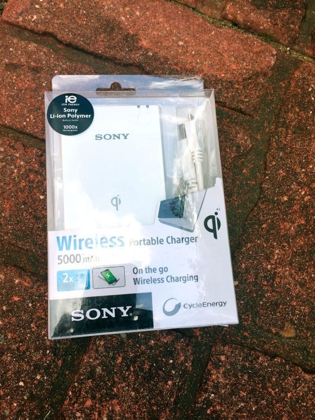 Sony 5000 mAh Portable Wireless Charger from Verizon