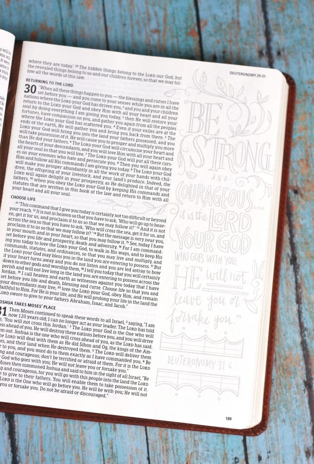 Un-colored Page of Illustrators Notetaking Bible
