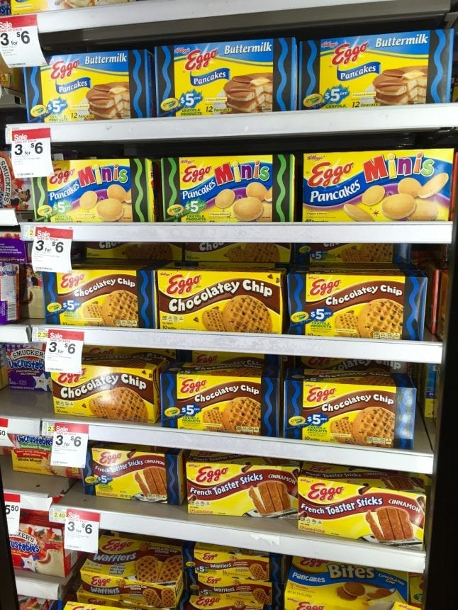 Eggo Products In-Store Photo