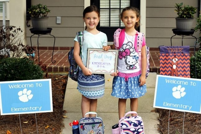 Sisters Ready for Kindergarten