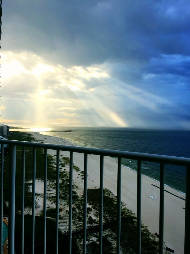 The beaches of the Alabama Gulf Coast offer some beautiful sunrises and sunsets.