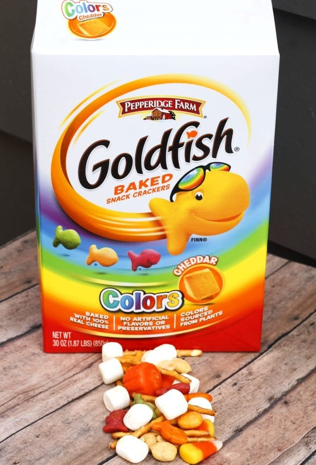 Goldfish Colors are the centerpiece of the Fall Festival Mix.