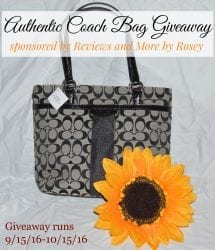 Win this authentic handbag by Coach by entering the giveaway sponsored by Reviews and More by Rosey.