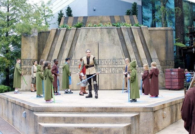 Disney kids love Jedi Training at Hollywood Studios!