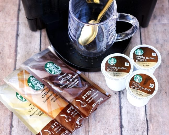 Great flavors await your in your Keurig with Starbucks lattes at home.