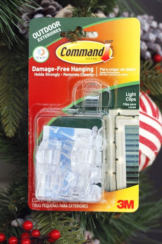 Command Brand products are great for damage free holiday decorating.