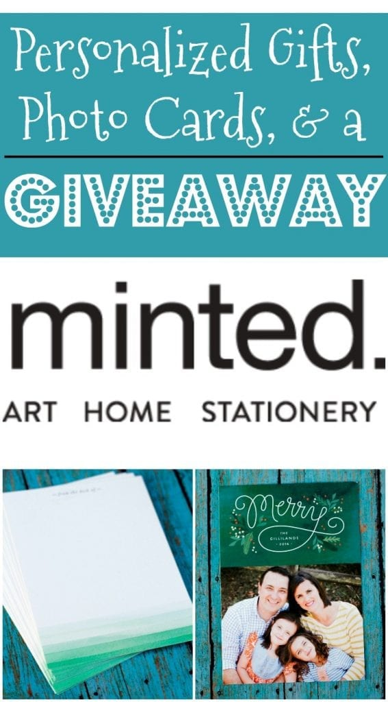 Christmas greetings from Minted! Check out the selection of beautiful photo cards and personal stationary offered by Minted.com and enter to win a $125 credit to the shop!