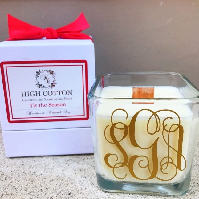 High Cotton Candle company invites you to shop small, shop local during the holidays.