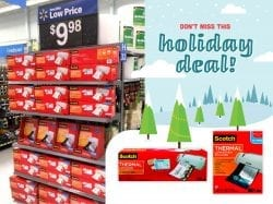 Check out this great holiday deal from Scotch! These thermal laminators are perfect for at home projects, and they're on sale right now! These make great gifts for the teacher or crafter on your list. #LaminateWithScotch AD