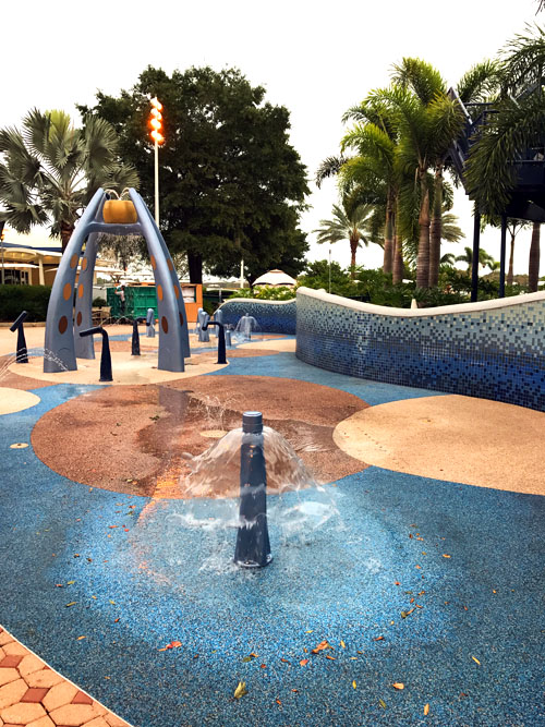 Kids will love the splash pad at Disney's Contemporary Resort.