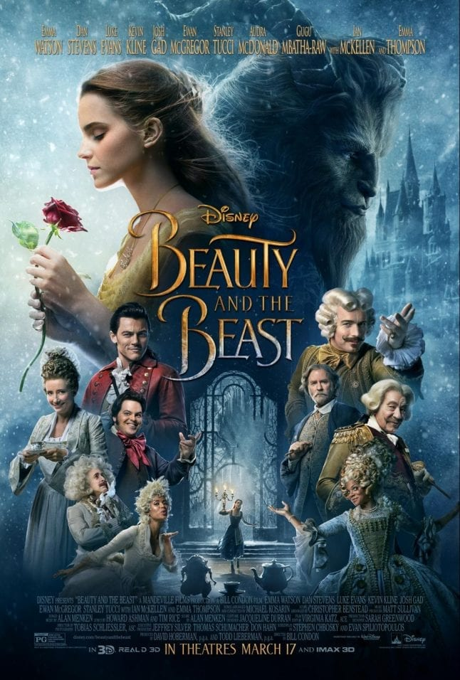 Disney movies in 2017 include Beauty and the Beast.