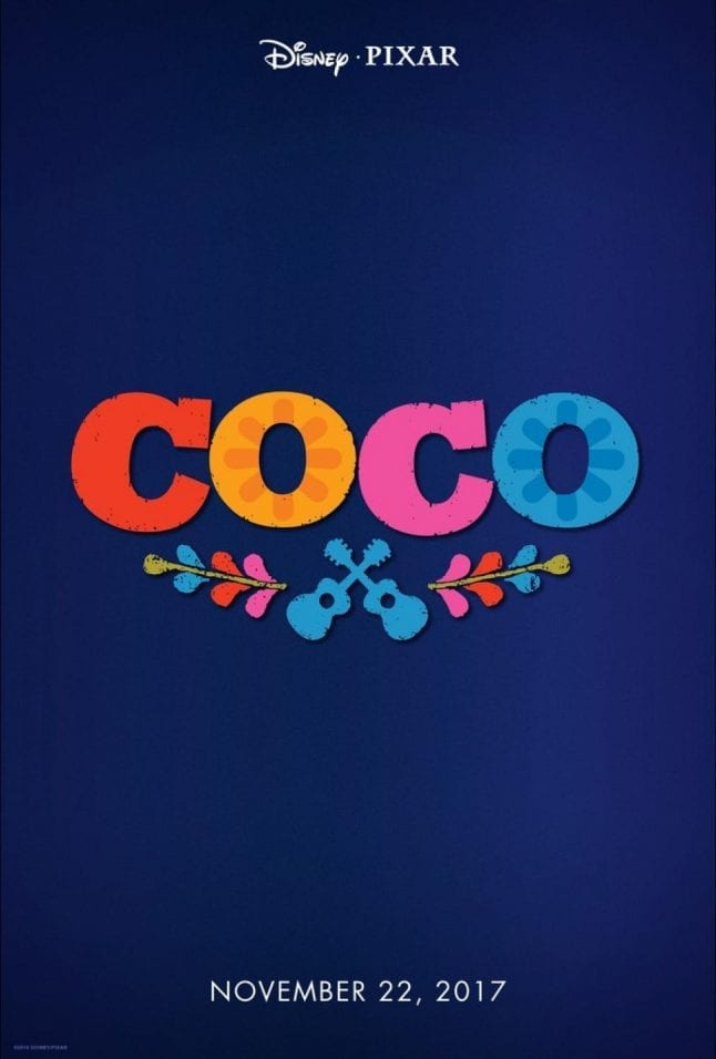 Coco is a Disney movie that will premiere in 2017.