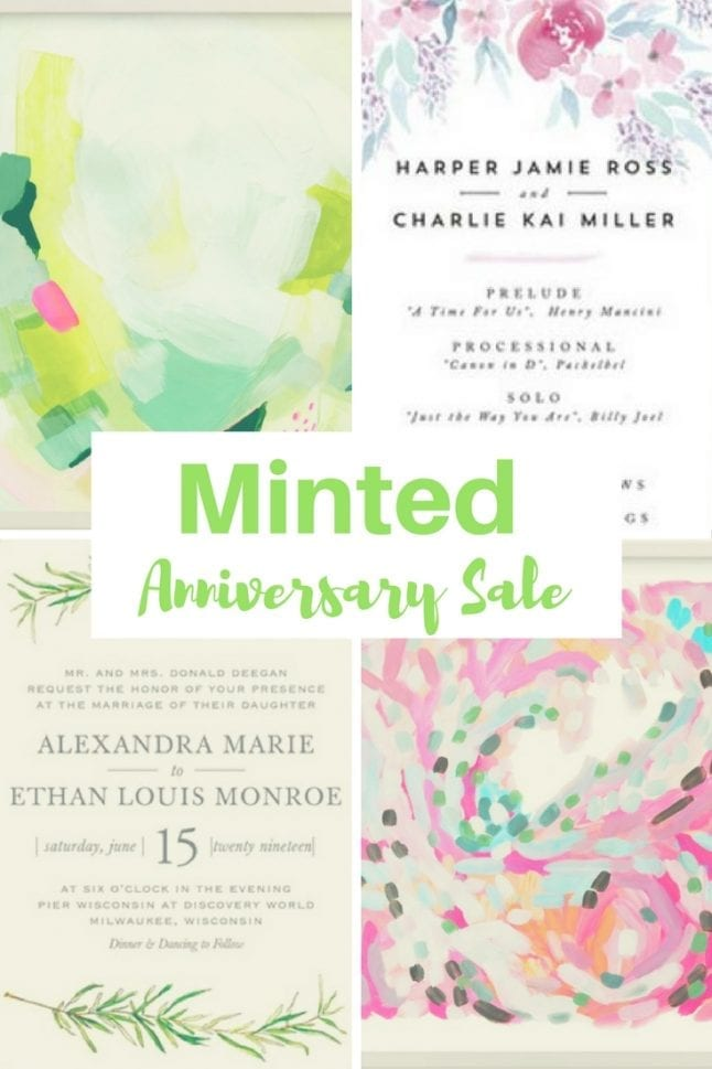 Celebrate the 10th anniversary of Minted.com with the Minted Anniversary Sale! Going on now through 4/3, get deep discounts sitewide!