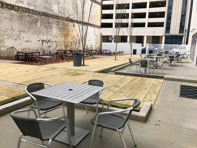 Outdoor Seating at Pizitz Food Hall