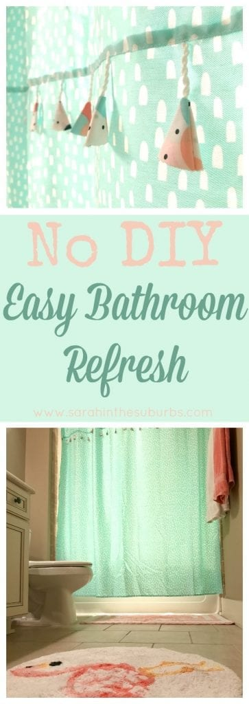 Refresh your bathroom space in a snap! Try my tips for a quick, inexpensive bathroom refresh with NO DIY included! It's easy and fun! #MegaSummerRefresh ad