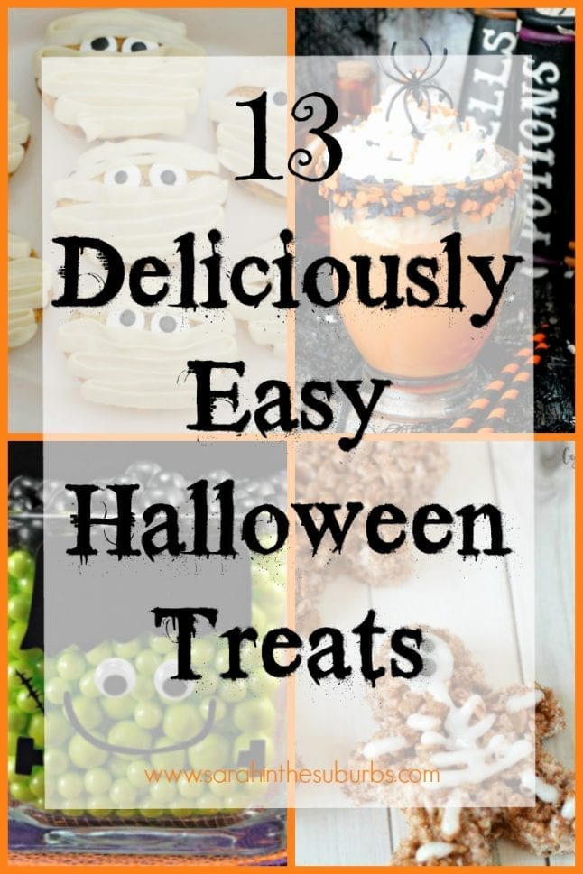 Easy Halloween treats are just a click away. I've rounded up some of the best, easy to make treats to help you celebrate Halloween. This list is a great resource for all things Halloween treats.