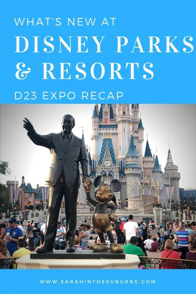 Disney parks and resorts announcements at D23 were exciting and plentiful! If you missed anything, I've got a great recap for you. 13 new experiences and additions were announced for Disney Parks and Resorts worldwide!