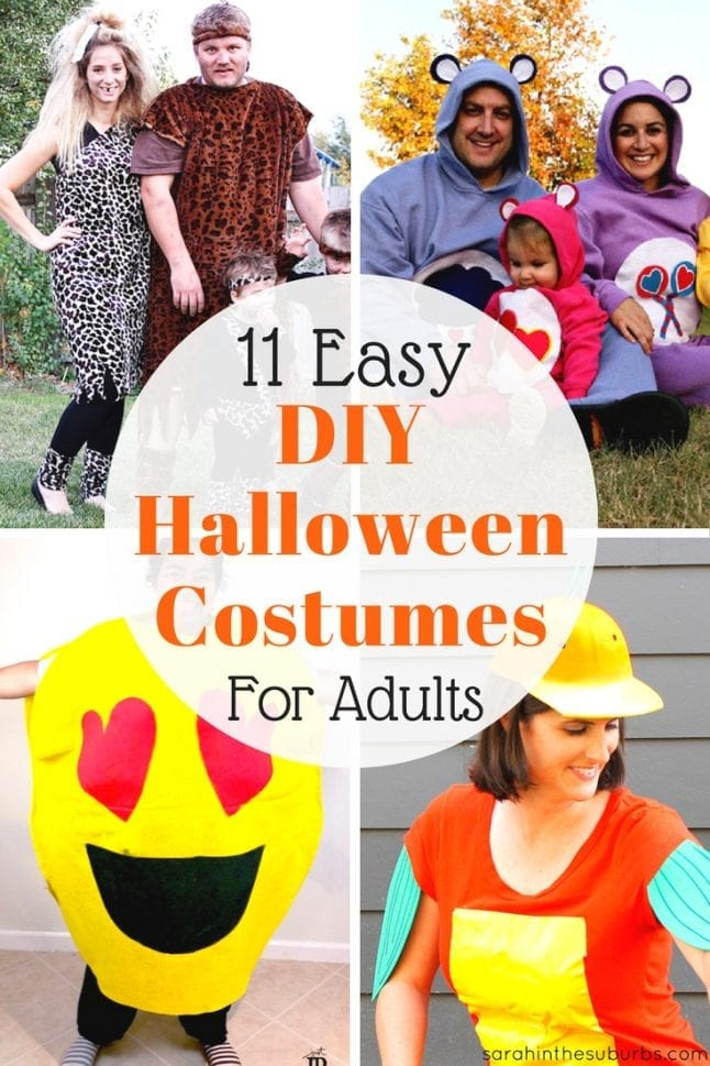 11 easy diy halloween costumes for adults sarah in the suburbs adults need halloween costumes too if youre looking for fun easy ideas solutioingenieria Gallery
