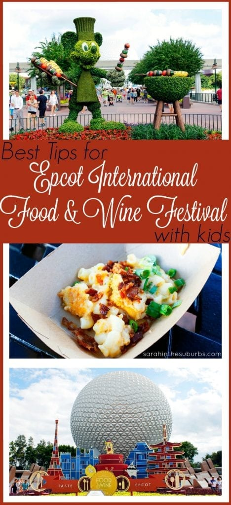 Planning to attend Epcot Food and Wine Festival with kids? Then you need to read this! These tips will help you make the most of your experience and enjoy it! You can take your kids with a little research and planning. Try these tips before you go!