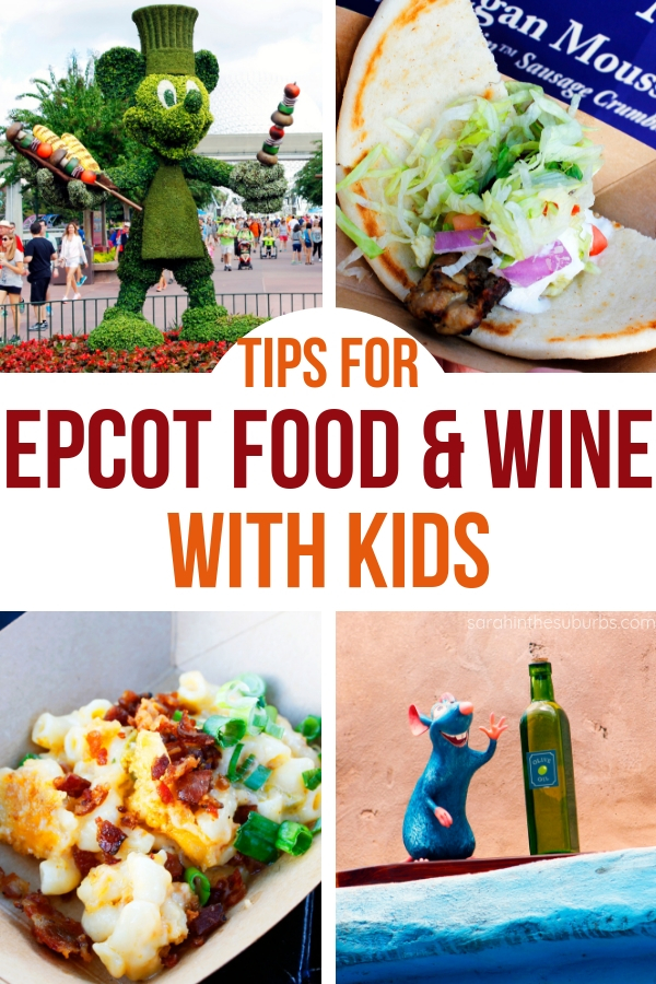 Planning to attend Epcot Food and Wine Festival with kids? Then you need to read this! These tips will help you make the most of your experience and enjoy it! You can take your kids with a little research and planning. Try these tips before you go! #TasteEpcot #EpcotFoodandWine #DisneyTravel #DisneyTips #DisneyVacations #DisneyWorld #EpcotFoodFest