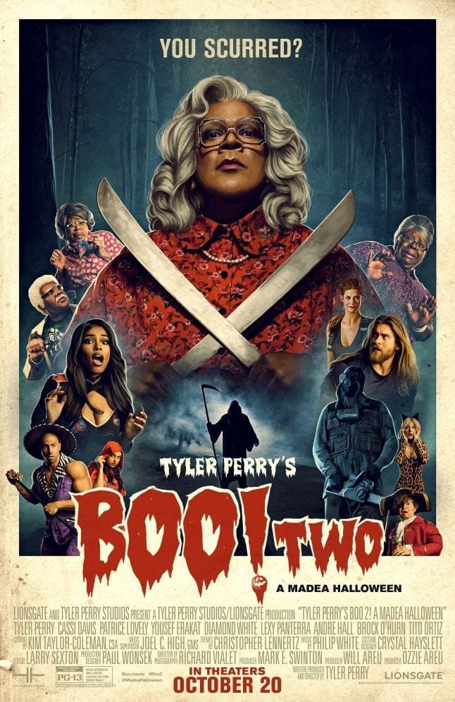 Celebrate the release of Boo 2! A Madea Halloween by entering this giveaway. One lucky winner will win a movie inspired t-shirt and a stencil pack to create your own carved Madea pumpkin. #Boo2 #rwm #ad
