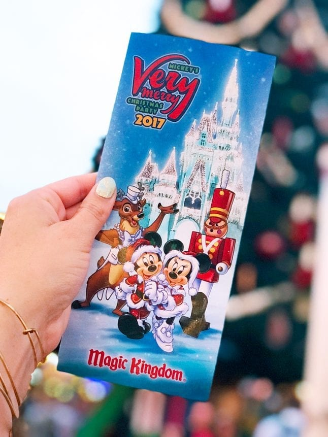 Use the guide map! That is a helpful tip for Mickey's Very Merry Christmas Party.
