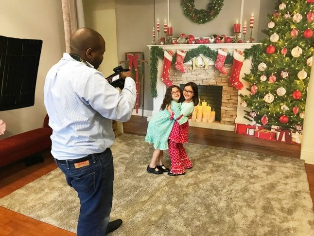 Family Christmas photo ideas include using Portrait Innovations.