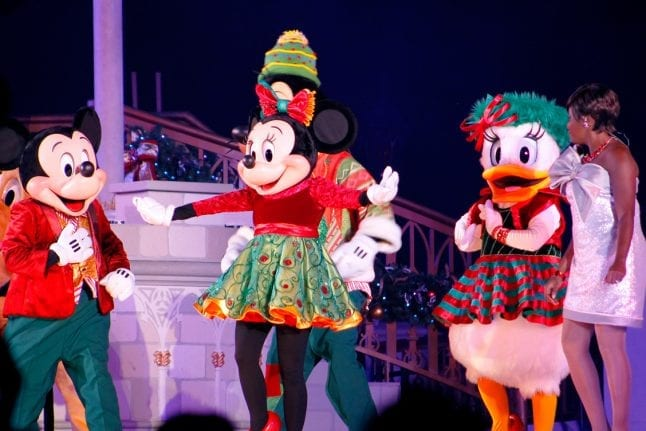 Best tips for Mickey's Very Merry Christmas Party include seeing the stage show at the end of the party.