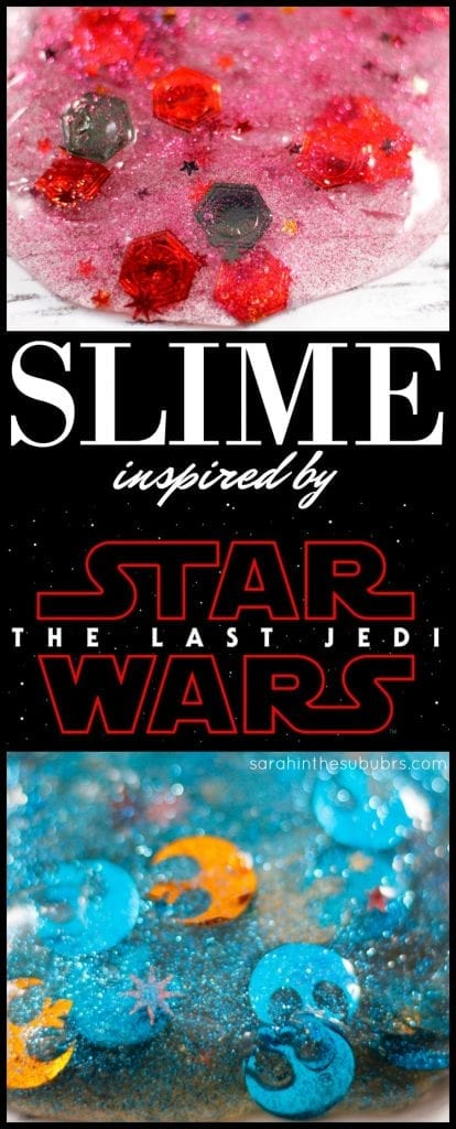 The Last Jedi will be in theaters soon, what better way to celebrate than with SLIME! Check out this easy to make Star Wars inspired slime, and you'll be ready to use the Force in no time!