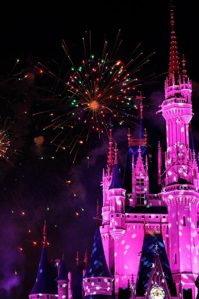 Fireworks are fun Disney Parks events to experience.