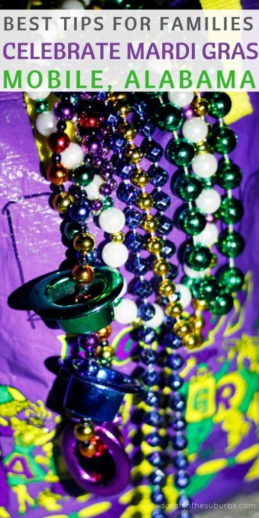 Take the family to Mardi Gras! Yes, you read that right. Families can enjoy a Mardi Gras experience that is family friendly and fun! Check out what to do and see during the Mardi Gras celebrations happening all month in Mobile, Alabama. #mardigras #mobilebay #beads #parades #throws