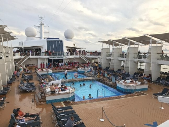 Find out where the open air pool is in this Celebrity Reflection Ship Review.