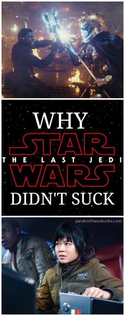 Not since the prequels has a Star Wars film caused such controversy. The film had its positives and negatives, but overall it was a classic Star Wars film. Read this fan review of Star Wars The Last Jedi to find out why it didn't suck. #StarWars #TheLastJedi #moviereview #fanreview